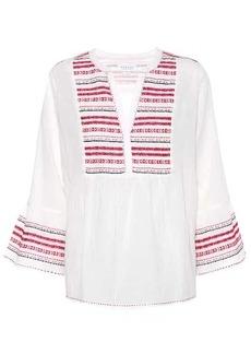 Velvet by Graham & Spencer Embroidered cotton blouse