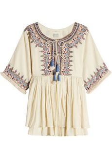 Velvet by Graham & Spencer Embroidered Cotton Tunic Top