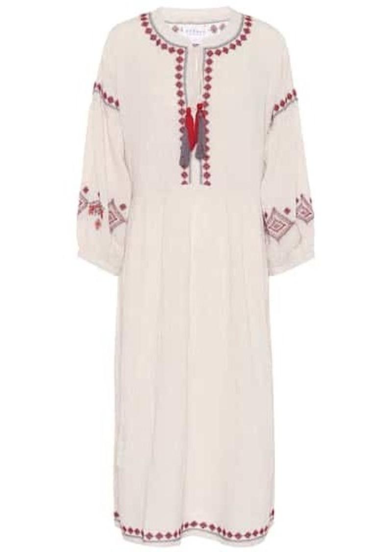 Velvet by Graham & Spencer Etta embroidered cotton-blend dress