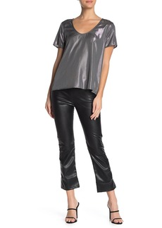 Velvet by Graham & Spencer Faux Leather Cropped Pants