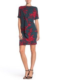 Velvet by Graham & Spencer Floral Dot Tie Front Dress
