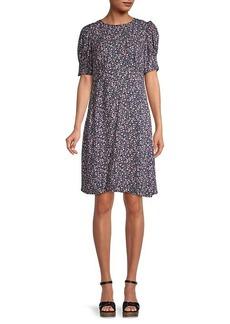 Velvet by Graham & Spencer Floral Puff-Sleeve Dress