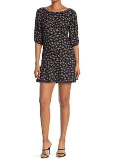 Velvet by Graham & Spencer Floral Puff Sleeve Mini Dress