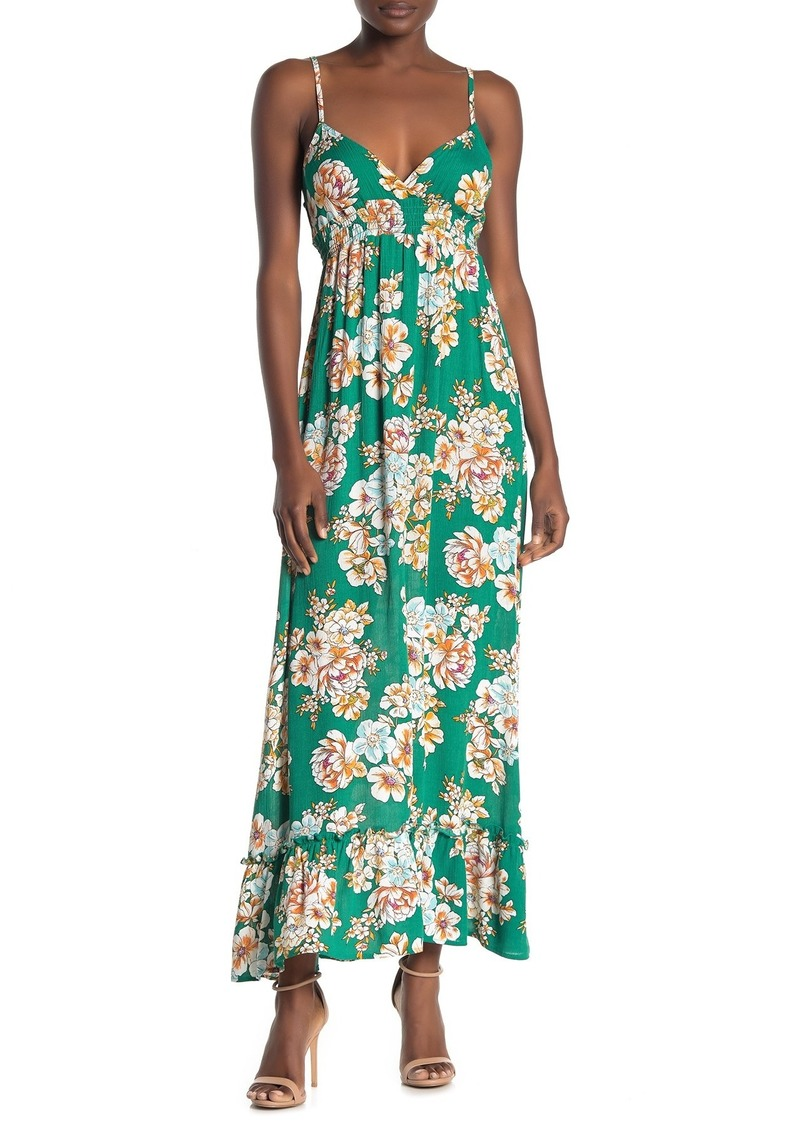 Velvet by Graham & Spencer Floral Ruffle Hem Maxi Dress