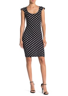 Velvet by Graham & Spencer Polka Dot Cap Sleeve Sheath Dress