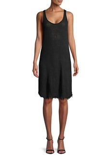Velvet by Graham & Spencer Fringed Cotton Crochet Dress