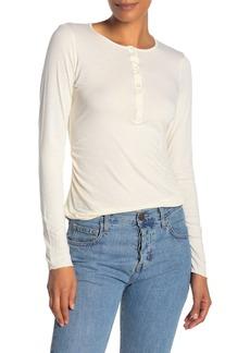Velvet by Graham & Spencer Gauzy Whisper Henley Long Sleeve T-Shirt