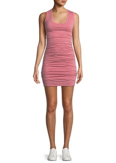 Velvet by Graham & Spencer Genisa Scoop-Neck Ruched Stripe Tank Dress