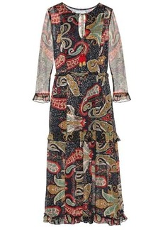 Velvet by Graham & Spencer Glimmer printed crêpe midi dress