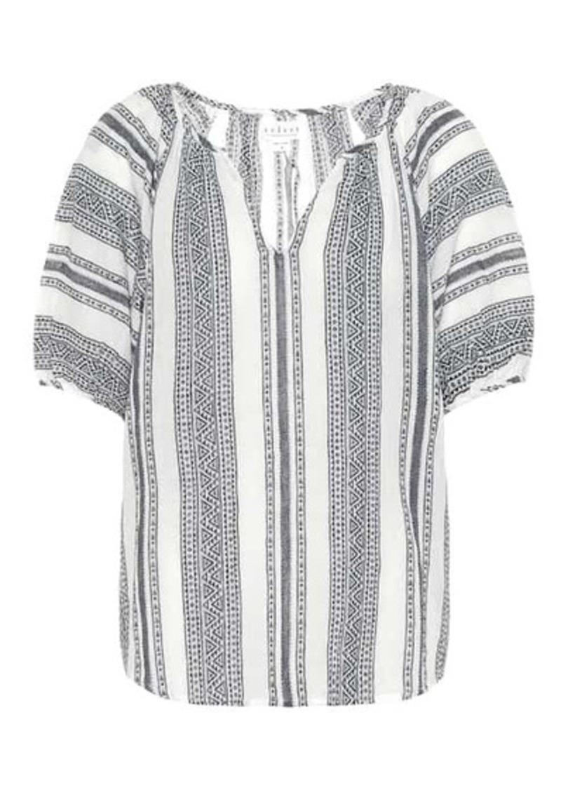 Velvet by Graham & Spencer Halsey patterned cotton blouse