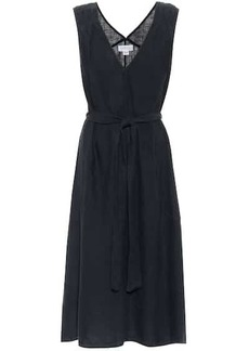 Velvet by Graham & Spencer Harmony belted linen midi dress