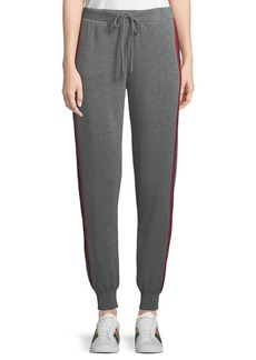 Velvet by Graham & Spencer Heathered Side-Stripe Jogger Pants