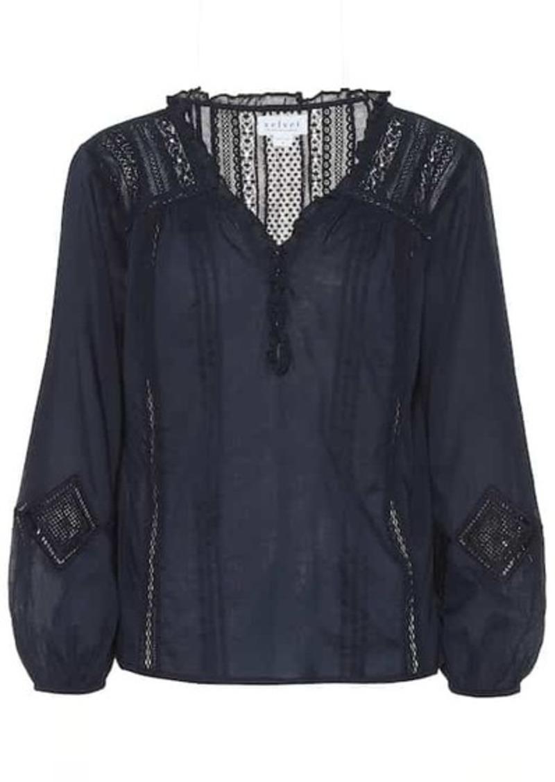 Velvet by Graham & Spencer Hope cotton blouse