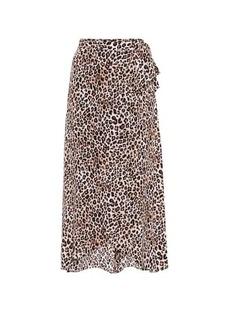 Velvet by Graham & Spencer Isadora challis midi wrap skirt