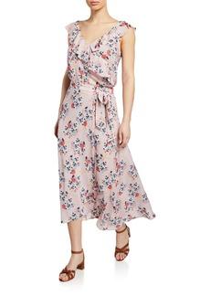 Velvet by Graham & Spencer Isadora Floral Wrap Midi Skirt
