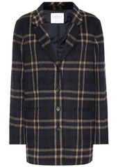Velvet by Graham & Spencer Jasmann plaid wool-blend coat