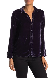 Velvet by Graham & Spencer Jensine Velvet Long Sleeve Blouse