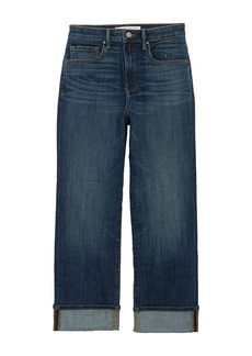 Velvet by Graham & Spencer Jerry High Rise Straight Leg Cuffed Jeans