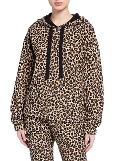 Velvet by Graham & Spencer Kassidy Leopard-Print  Hoodie Sweatshirt