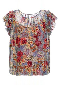 Velvet by Graham & Spencer Keiara floral fil coupé blouse