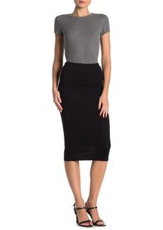 Velvet by Graham & Spencer Knit Bodycon Midi Skirt