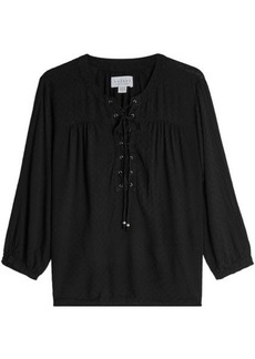 Velvet by Graham & Spencer Lace-Up Blouse