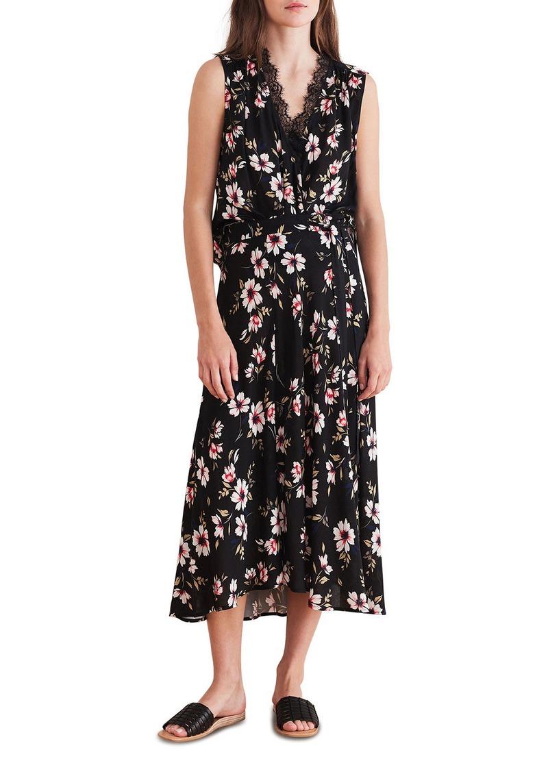 Velvet by Graham & Spencer Lacy Floral-Print Sleeveless Midi Dress