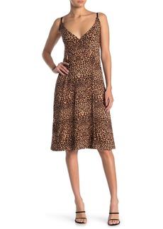 Velvet by Graham & Spencer Leopard Faux Wrap Dress