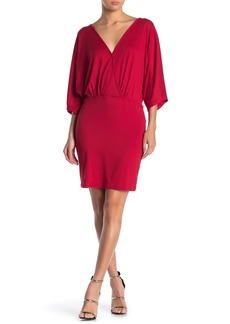 Velvet by Graham & Spencer Surplice Neck Mini Dress