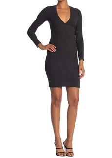 Velvet by Graham & Spencer Long Sleeve Empire Sweater Mini Dress