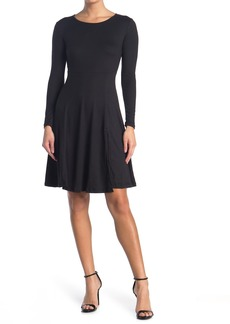 Velvet by Graham & Spencer Long Sleeve Front Slit Dress