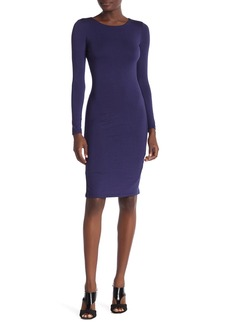 Velvet by Graham & Spencer Long Sleeve Midi Dress