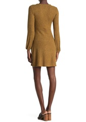 Velvet by Graham & Spencer Long Sleeve Ribbed Knit Wrap Dress