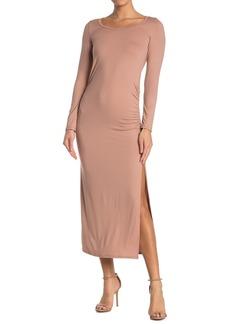 Velvet by Graham & Spencer Long Sleeve Ruched Maxi Dress