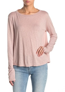 Velvet by Graham & Spencer Long Sleeve Slub Knit Top