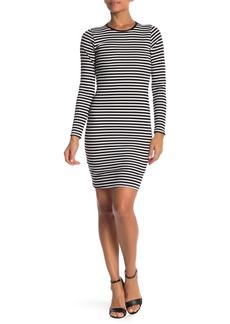 Velvet by Graham & Spencer Striped Long Sleeve Rib Dress