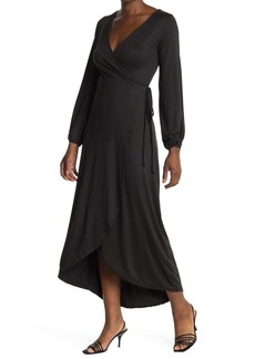 Velvet by Graham & Spencer Long Sleeve Wrap Maxi Dress