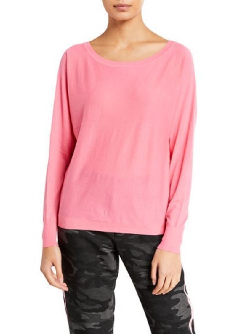 Velvet by Graham & Spencer Loren Boat-Neck Cotton Sweatshirt
