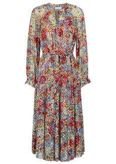 Velvet by Graham & Spencer Luana floral fil coupé maxi dress