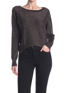 Velvet by Graham & Spencer Lurex Shine Knit Sweater