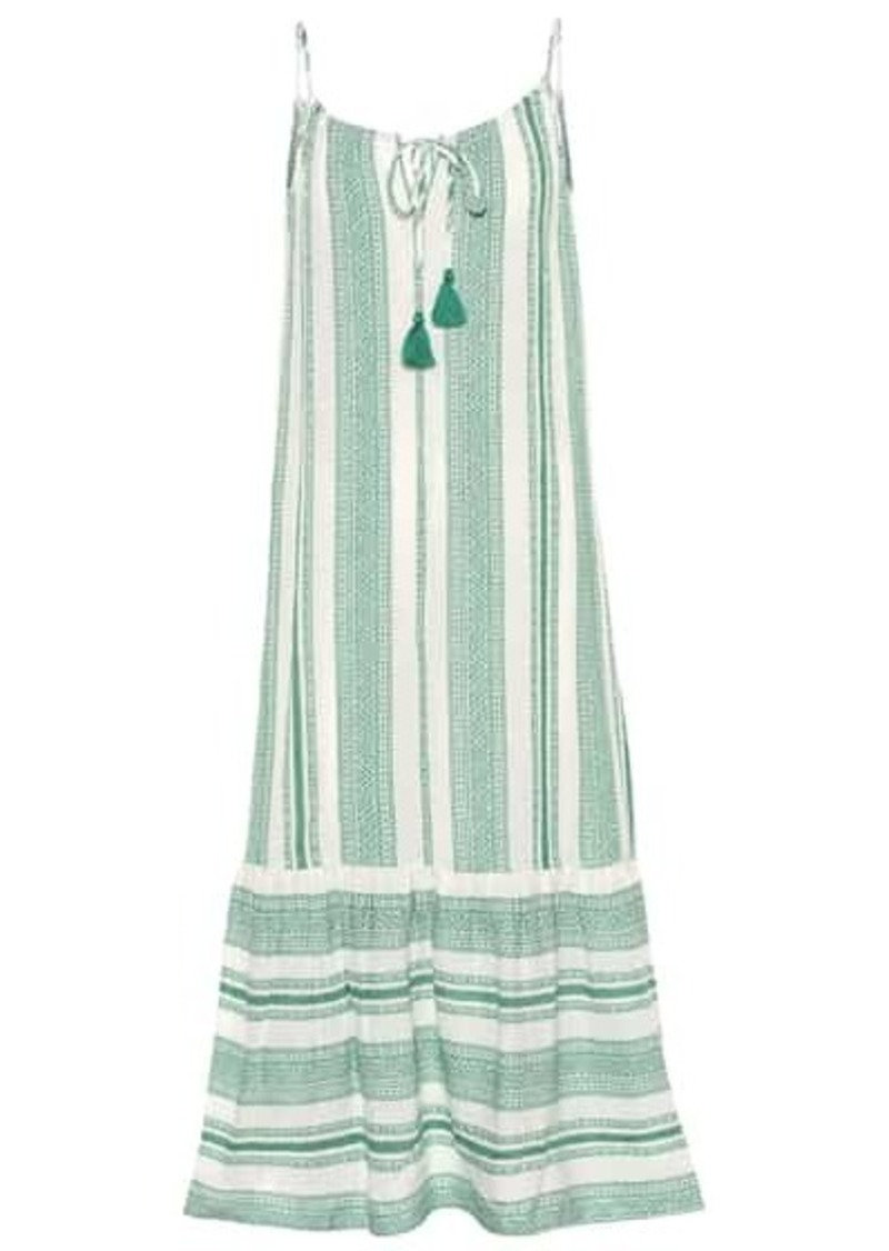 Velvet by Graham & Spencer Lynda patterned cotton midi dress