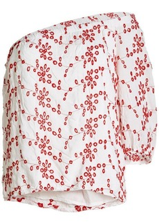 Velvet by Graham & Spencer Maya Embroidered Blouse