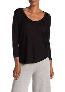 Velvet by Graham & Spencer Mercy Scoop Neck Linen Blend Top