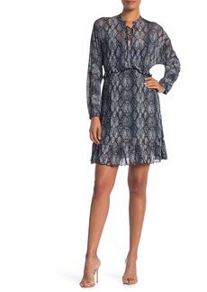 Velvet by Graham & Spencer Mesh Long Sleeve Ruffled Dress