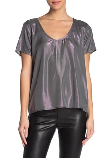 Velvet by Graham & Spencer Metallic Scoop Neck Top