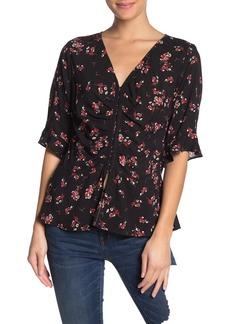 Velvet by Graham & Spencer Micco Floral 3/4 Sleeve Blouse