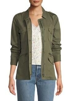 Velvet by Graham & Spencer Military-Style Zip-Front Jacket
