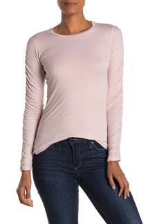 Velvet by Graham & Spencer Miss Gauzy Whisper Ruched Long Sleeve Top