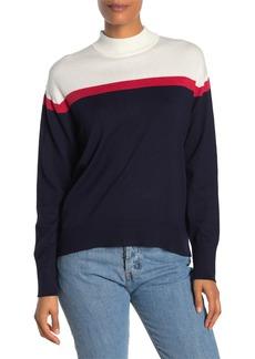 Velvet by Graham & Spencer Mock Neck Colorblock Sweater