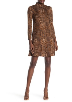 Velvet by Graham & Spencer Mock Neck Long Sleeve Jersey Dress